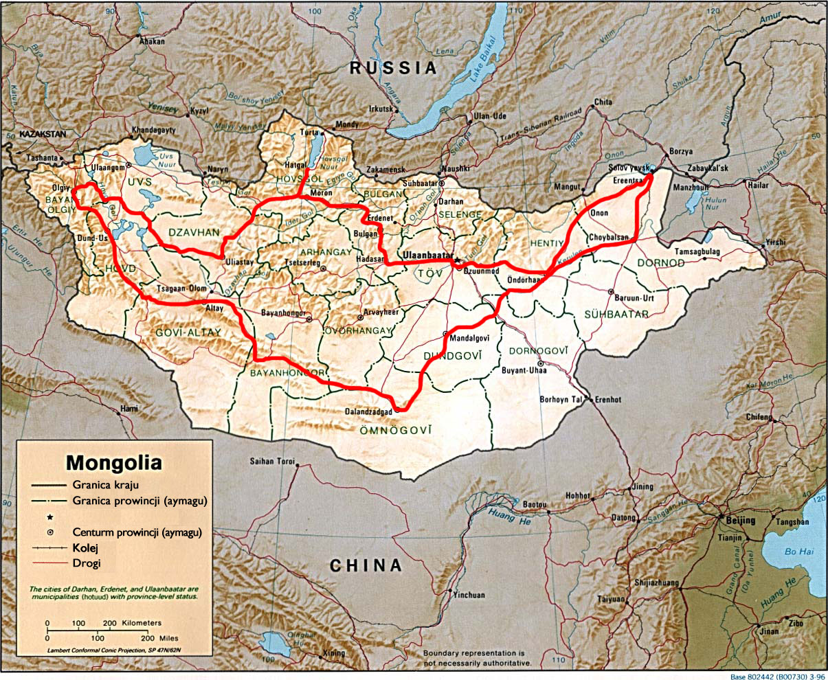 Planowana trasa podróży